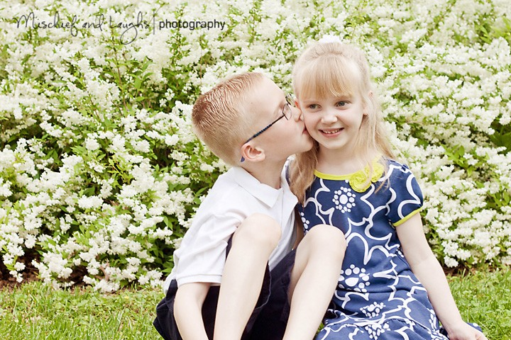 Some Shy Little Smiles - Cincinnati Family Photographer