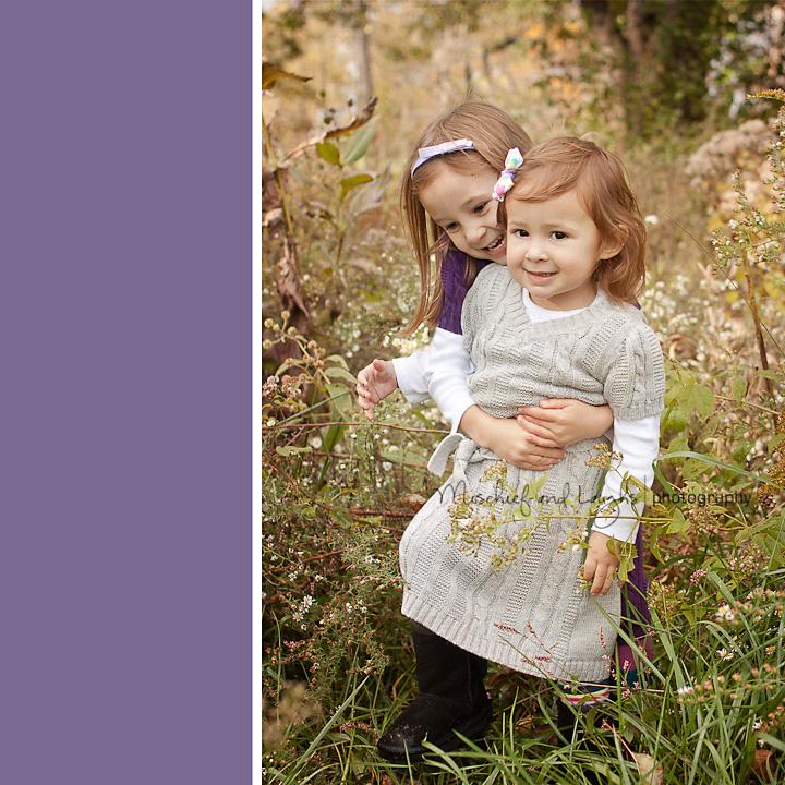 hugging little girls
