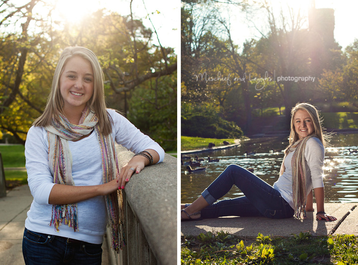 sunny senior portraits at Twin Lakes