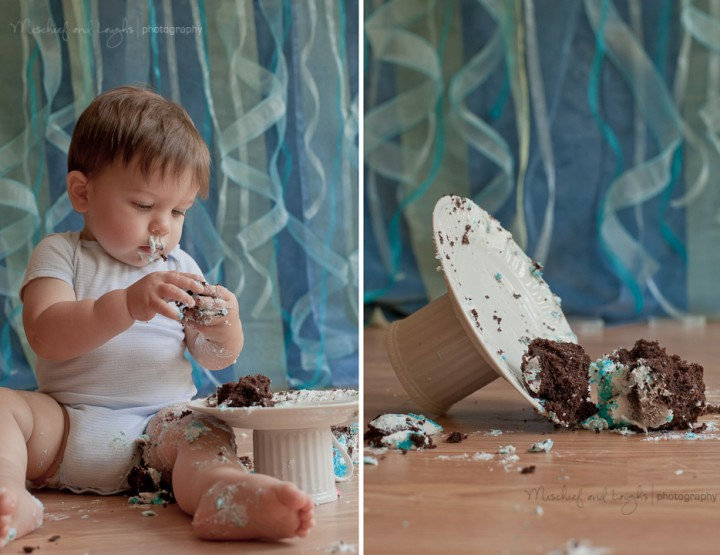 Mr Cake Face {Cincinnati First Birthday Photographer}