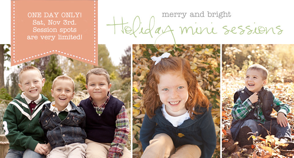 Christmas Holiday picture mini sessions in Cincinnati and Northern Kentucky