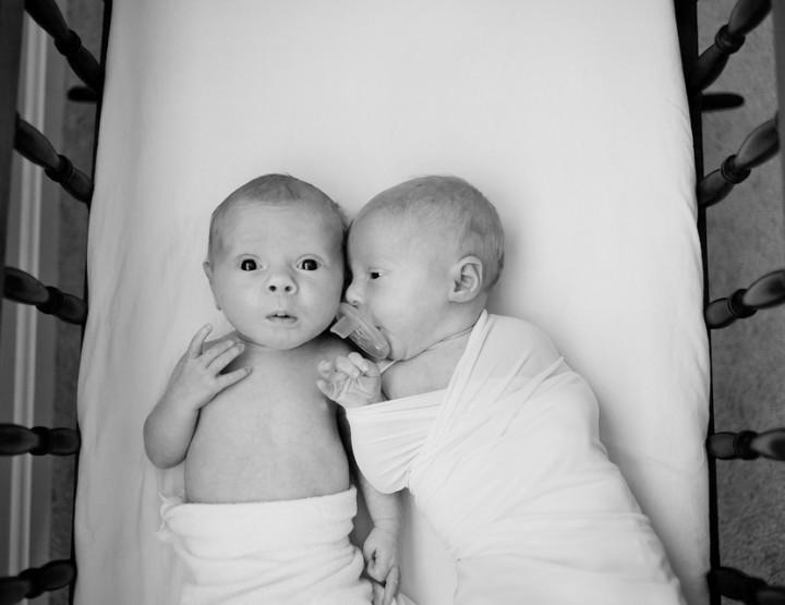Double, No Trouble {Cincinnati Newborn Twins}