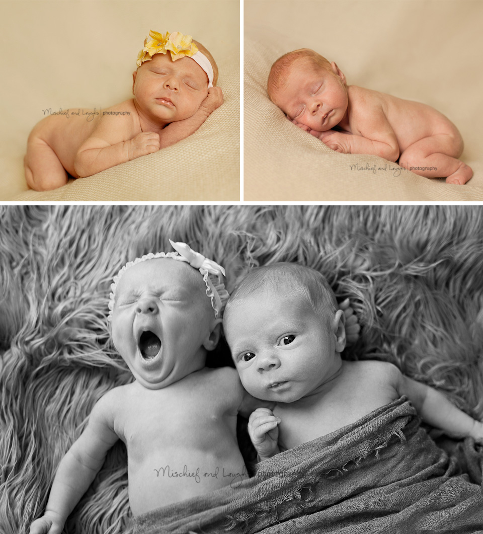 boy/girl newborn twins photo session in Northern Kentucky