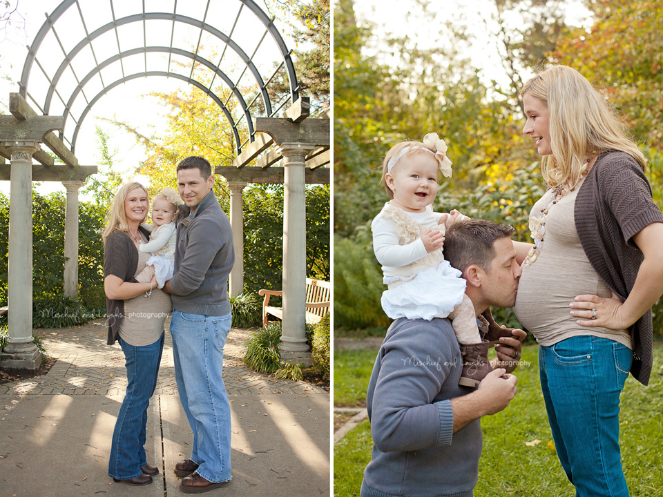 sweet maternity pictures with family, dad and big sibling