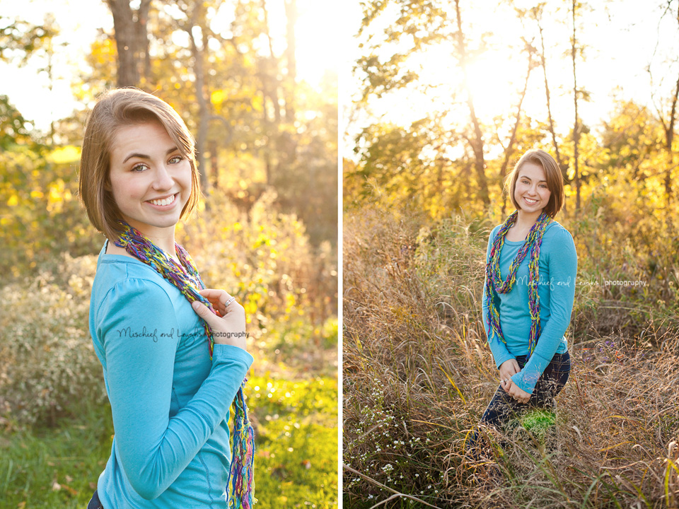 senior pictures with beautiful backlit sunshine