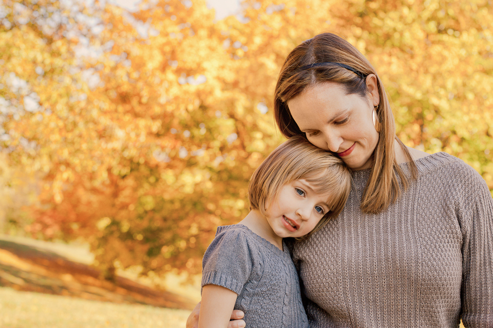 mom and daughter pose for sweet pictures together