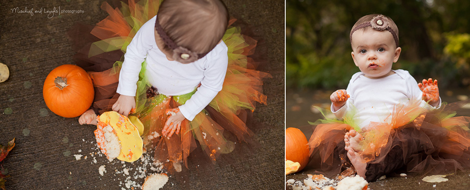 Halloween Themed Cake Smash Outdoors, Mischief and Laughs Photography, Cincinnati