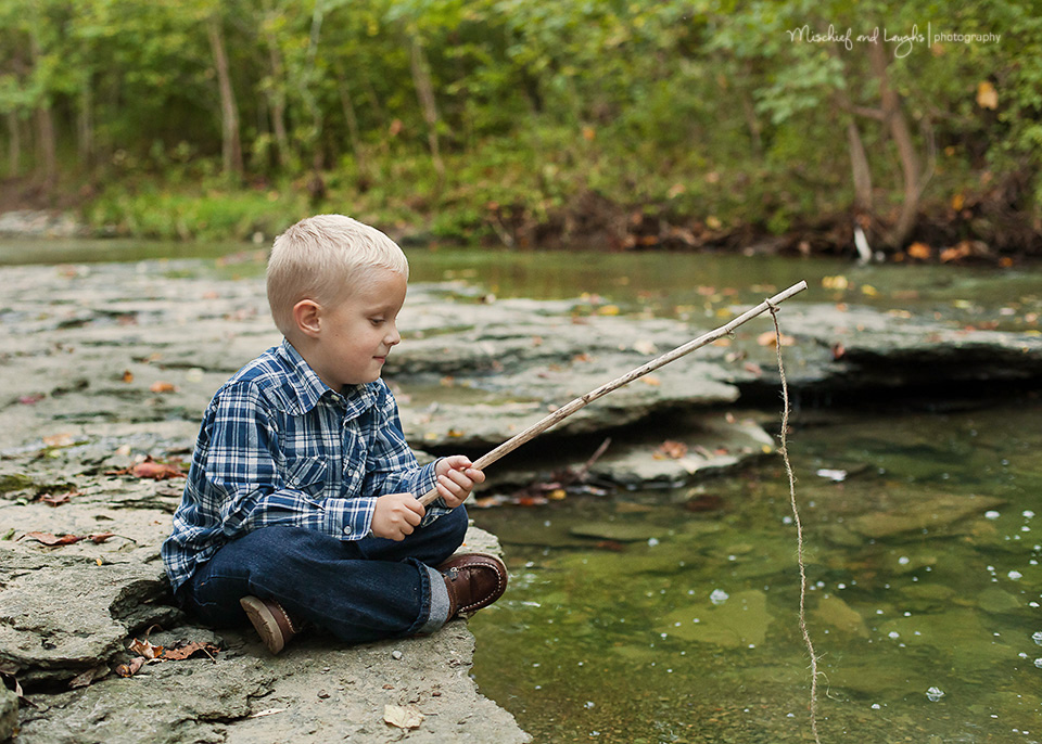 Mischief and laughs photography splashing fun for Little boy fishing