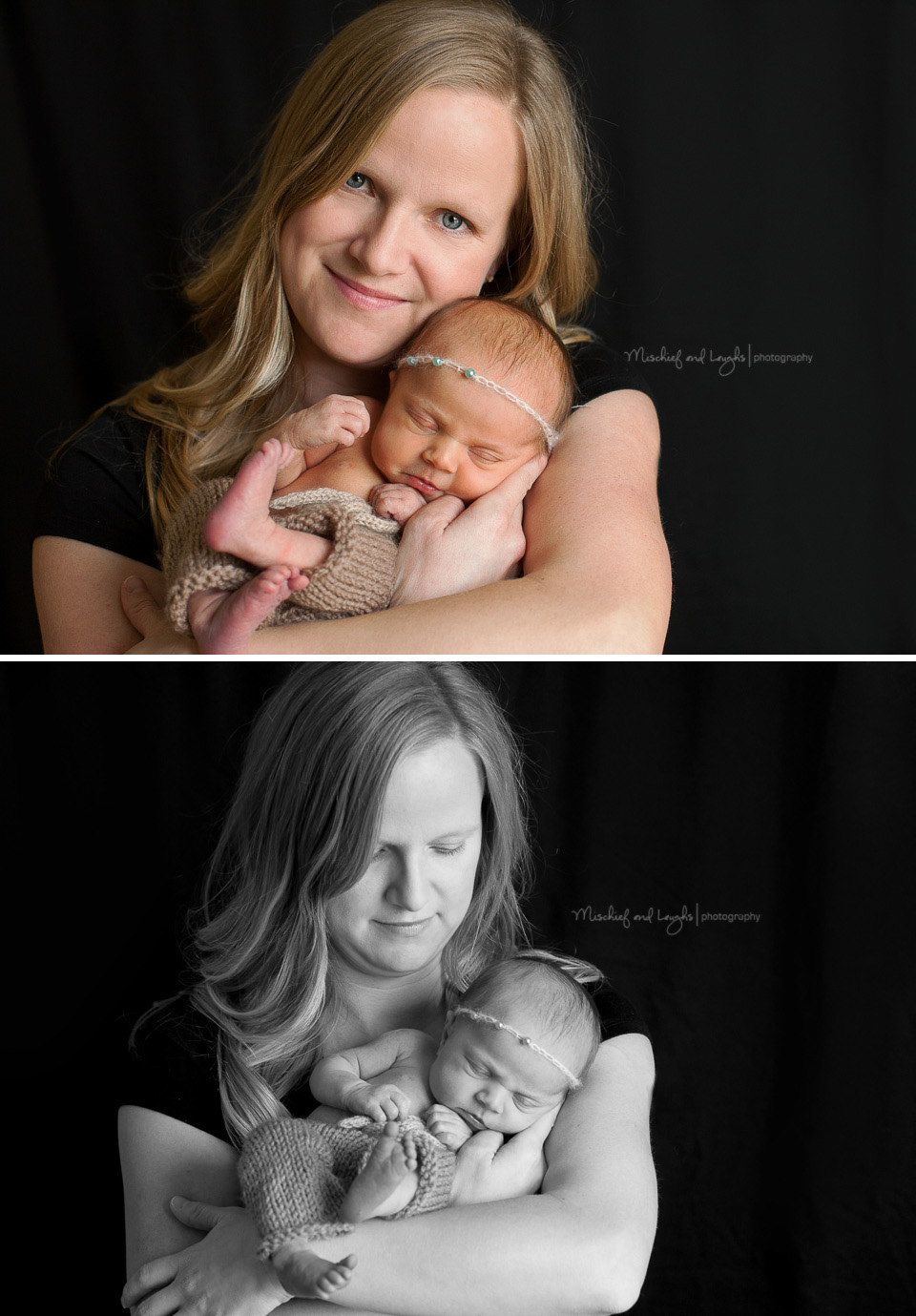 Mom and Newborn baby. Mischief and Laughs Photography, Cincinnati OH