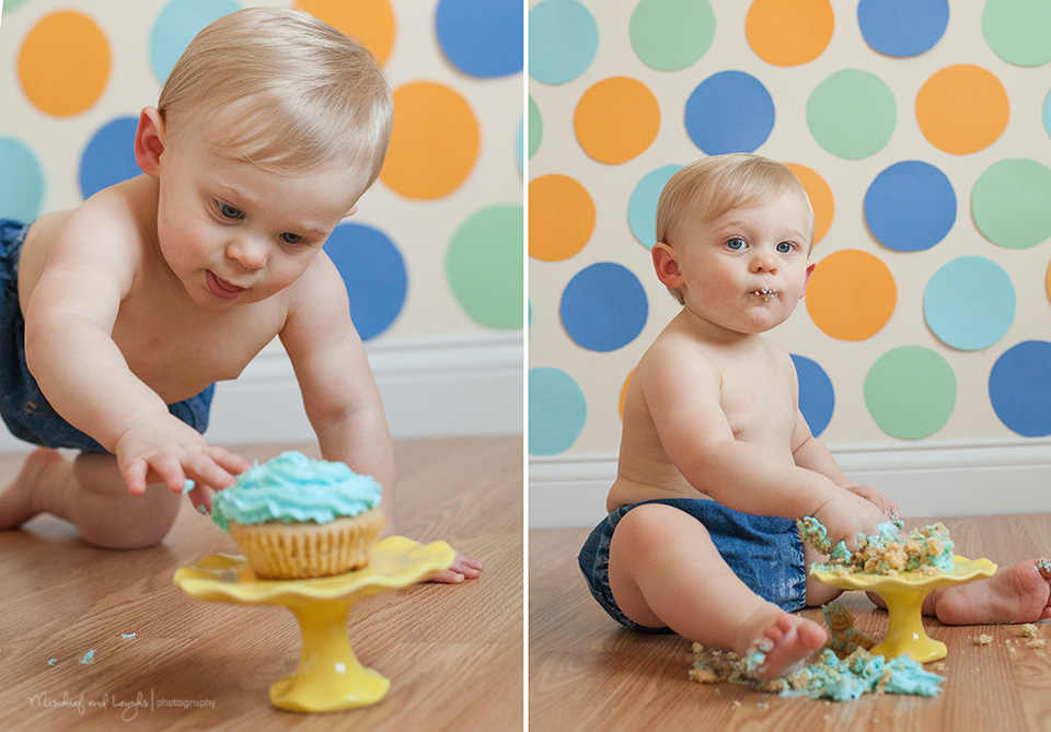 Baby Boy Cake Smash Set ideas; Mischief and Laughs Photography, Cincinnati OH