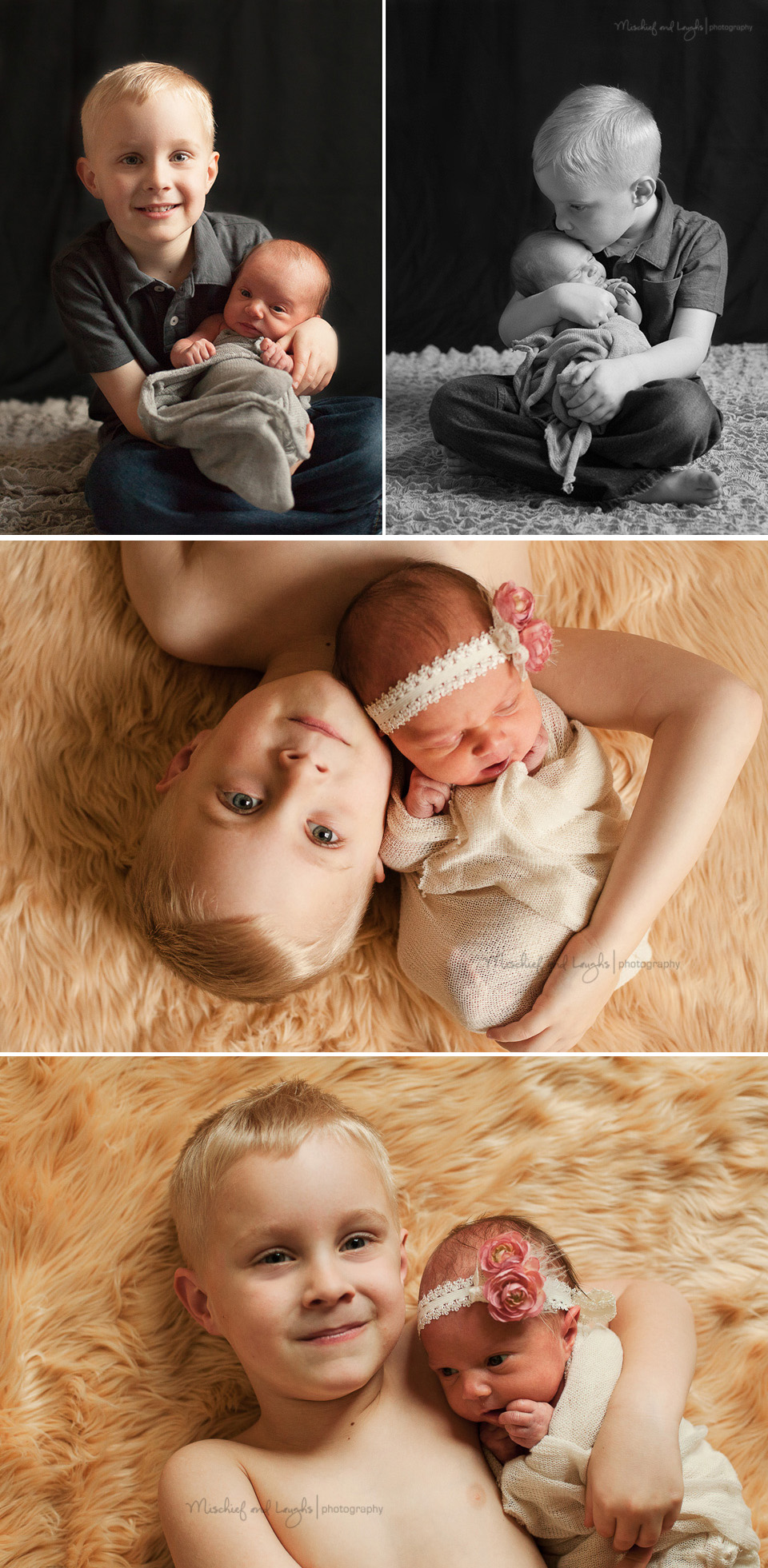 Big brother and Newborn. Mischief and Laughs Photography, Cincinnati OH