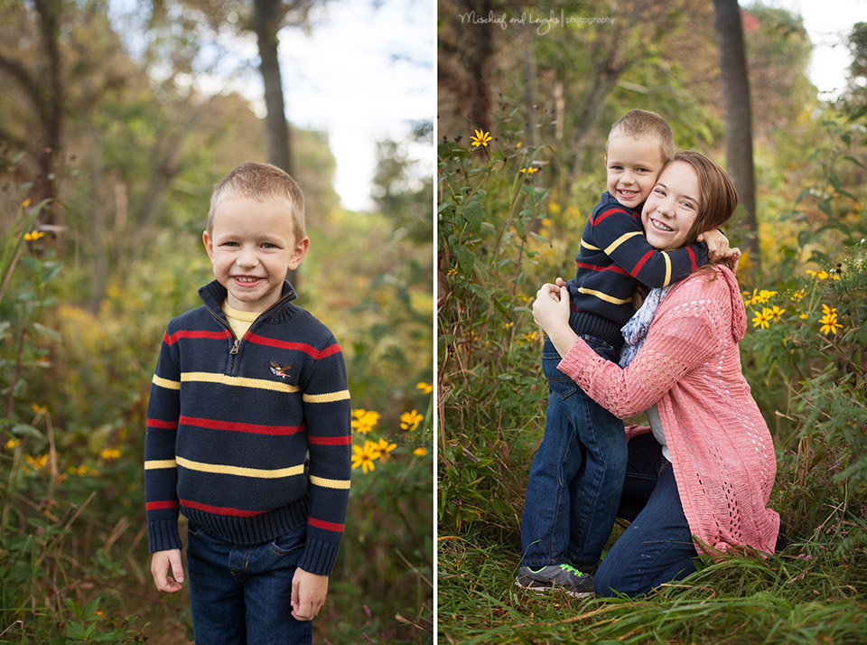 Outdoor family pictures in Northern Kentucky