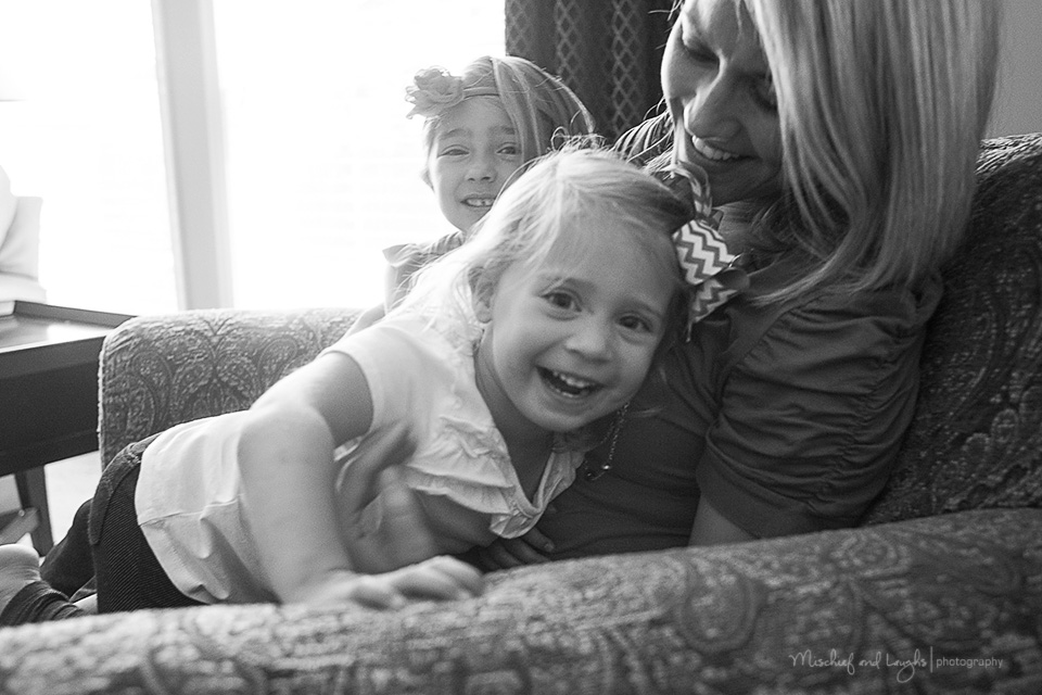 lifestyle session in client's home, Mischief and Laughs, Cincinnati OH