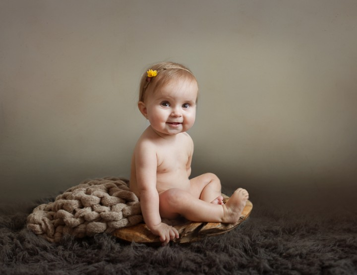 I Love Lucy, Cincinnati First Birthday Baby Photographer