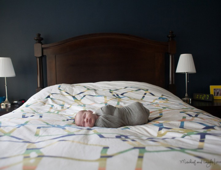 A New Baby in Town, Cincinnati In Home Newborn Photographer