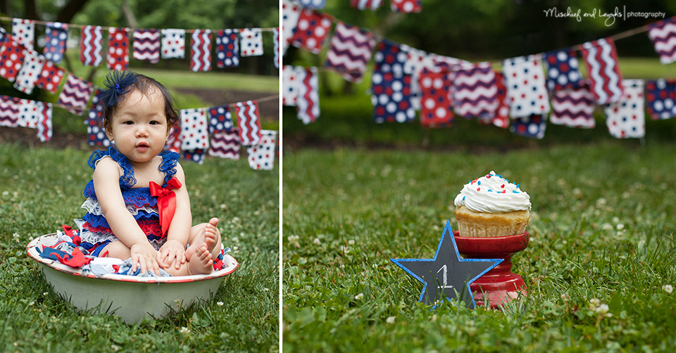 fourth of july cake smash