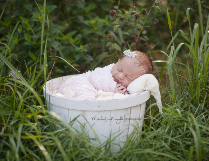 Sweet baby in the Great Outdoors; Finger Lakes NY Newborn Photographer
