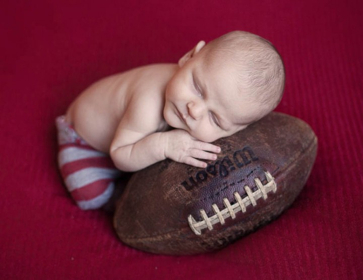 The Littlest Sports Fan, Rochester Newborn Photographer