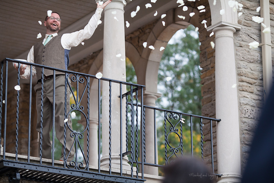 Wedding Ceremony photos, Rochester wedding photographer, Mischief and Laughs