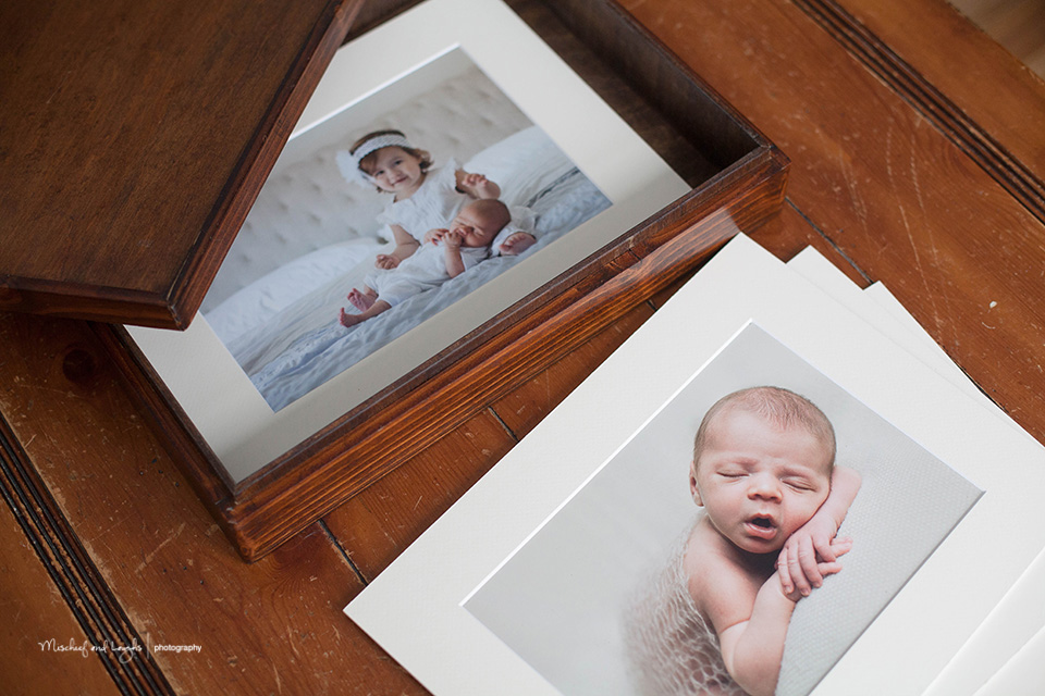 Photo Display Ideas, Matted Print Image Box, Canandaigua NY Newborn Photographer
