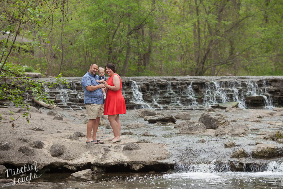waterfall family pictures, Canandaigua NY