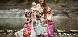 Finger Lakes family photographer, Outdoor photos in a creek