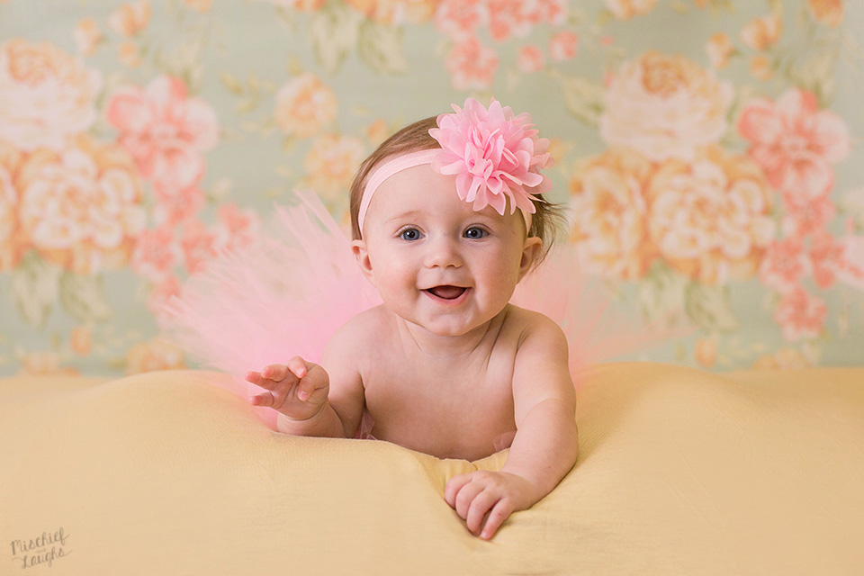 6 month baby photos, milestone photo session, Mischief and Laughs Photography, Rochester NY