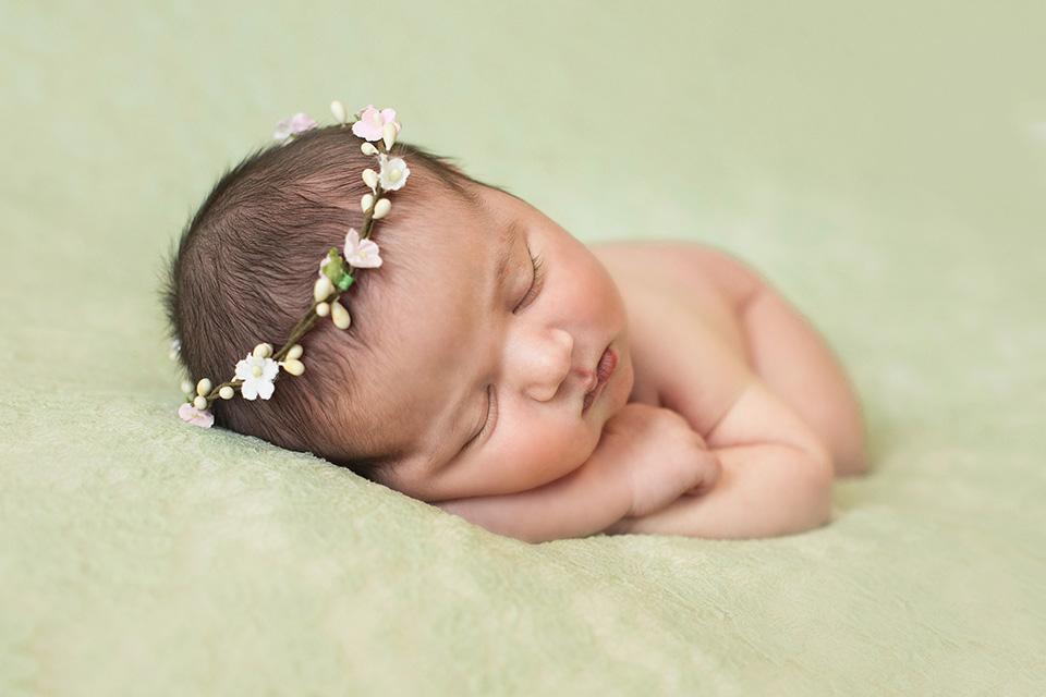 sweet mint green newborn photos, Rochester Newborn Photographer, Mischief and Laughs Photography