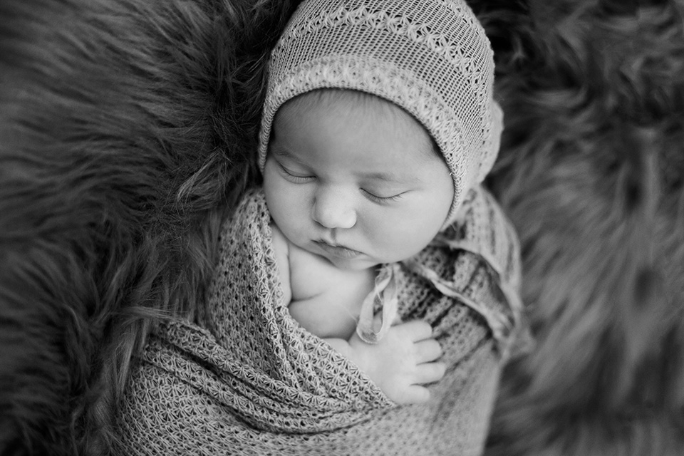 newborn baby fur, Rochester Newborn Photographer, Mischief and Laughs Photography