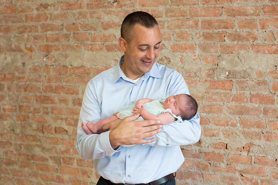 Dad with newborn, Rochester NY Newborn Photographer, Mischief and Laughs Photography