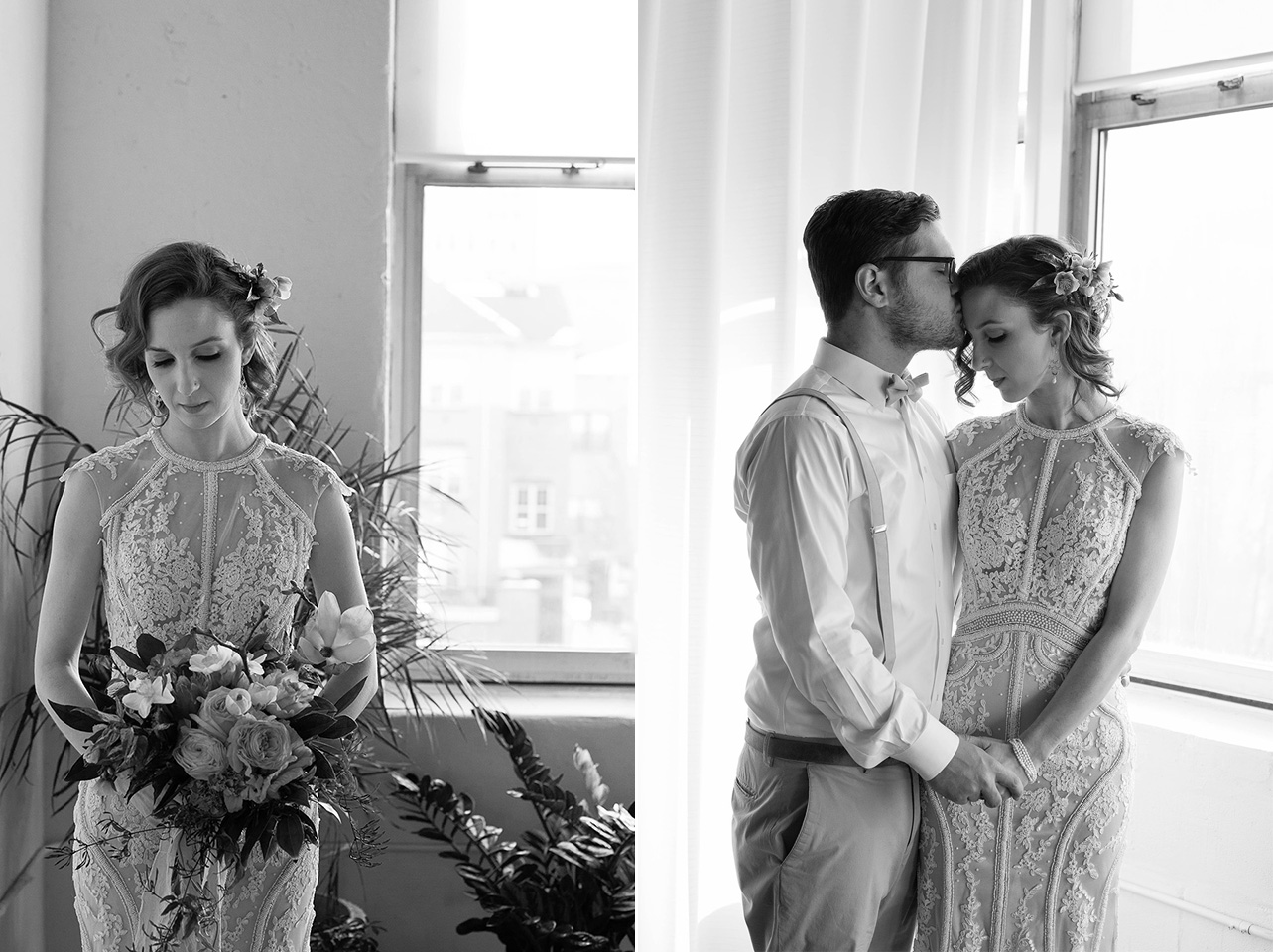 Bride and Groom photos, Arbor Loft Styled Wedding Shoot, Rochester Wedding Photographer, Mischief and Laughs Photography