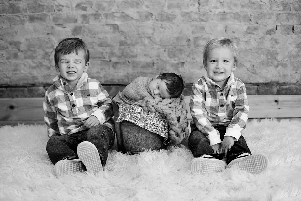 classic newborn photos in Rochester NY, Mischief and Laughs Photography