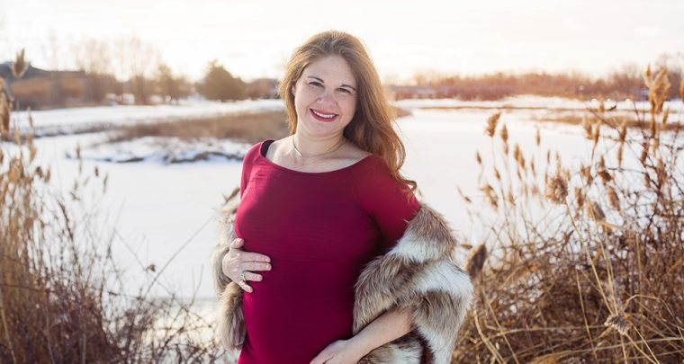 Snowy Maternity Session, Canandaigua Maternity Photographer