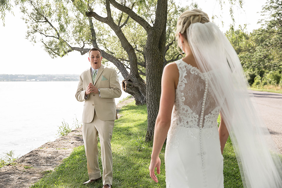 First Look, Seneca Lake Wedding Photos, Finger Lakes Wedding Photographer
