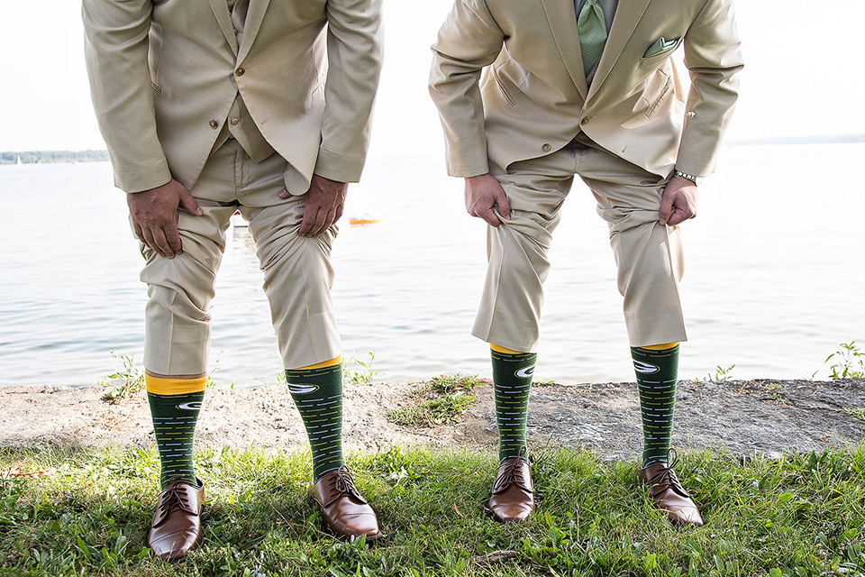matching socks green bay packers, Finger Lakes wedding photographer