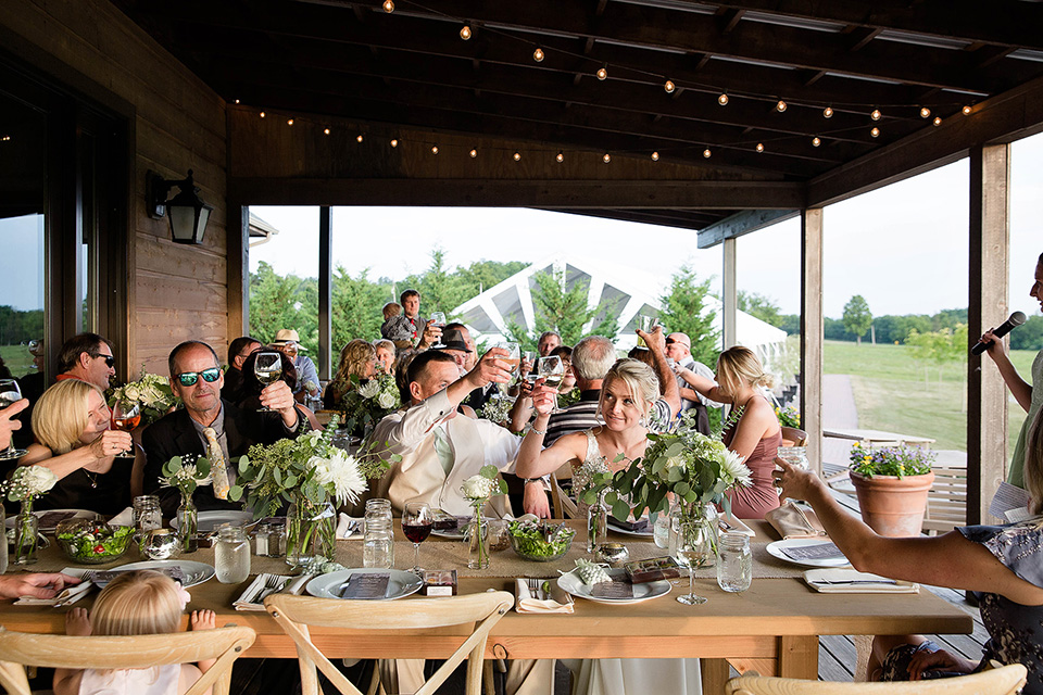 Mischief And Laughs Photography Winery Wedding Reception Toast