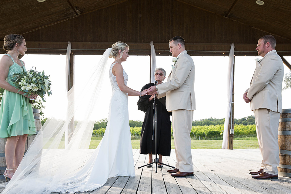 Wedding Ceremony outdoors at a winery in Geneva NY
