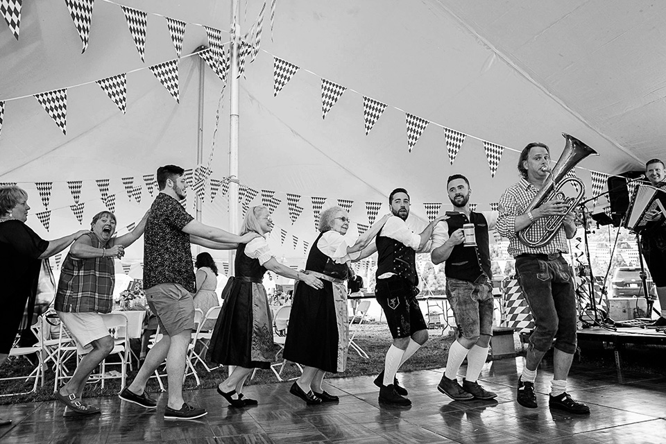 Oktoberfest Wedding, Cincinnati Wedding Photographer, Biergarten Themed wedding with Oompah Band