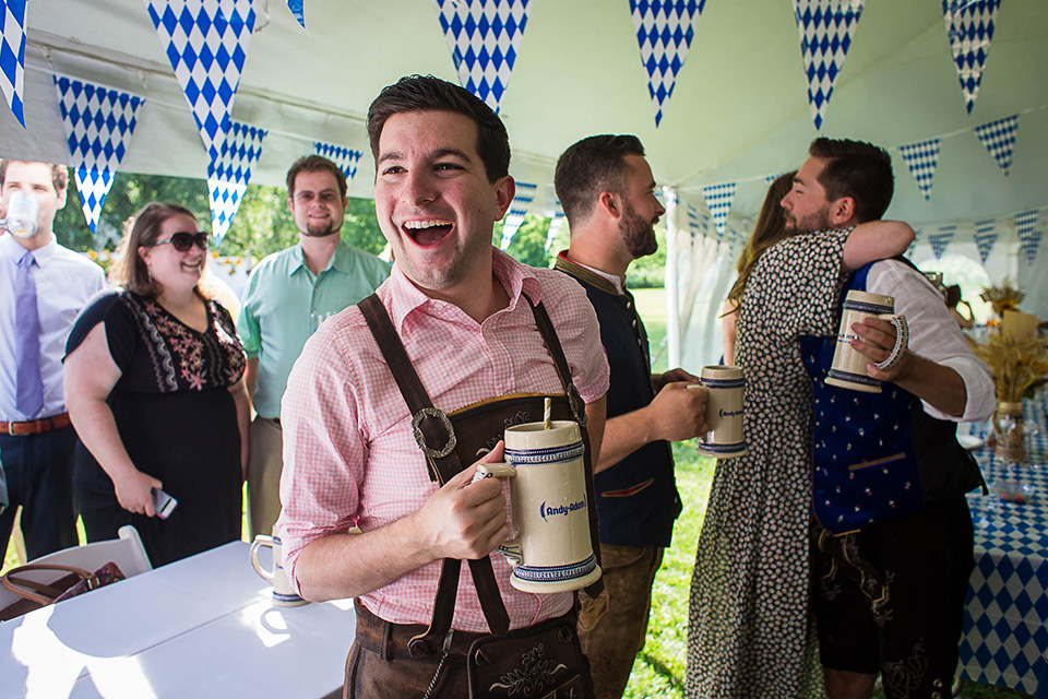 Oktoberfest Wedding, Cincinnati Wedding Photographer, Biergarten Themed wedding