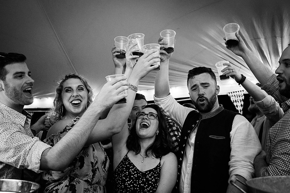 Toast at wedding, Cincinnati OH