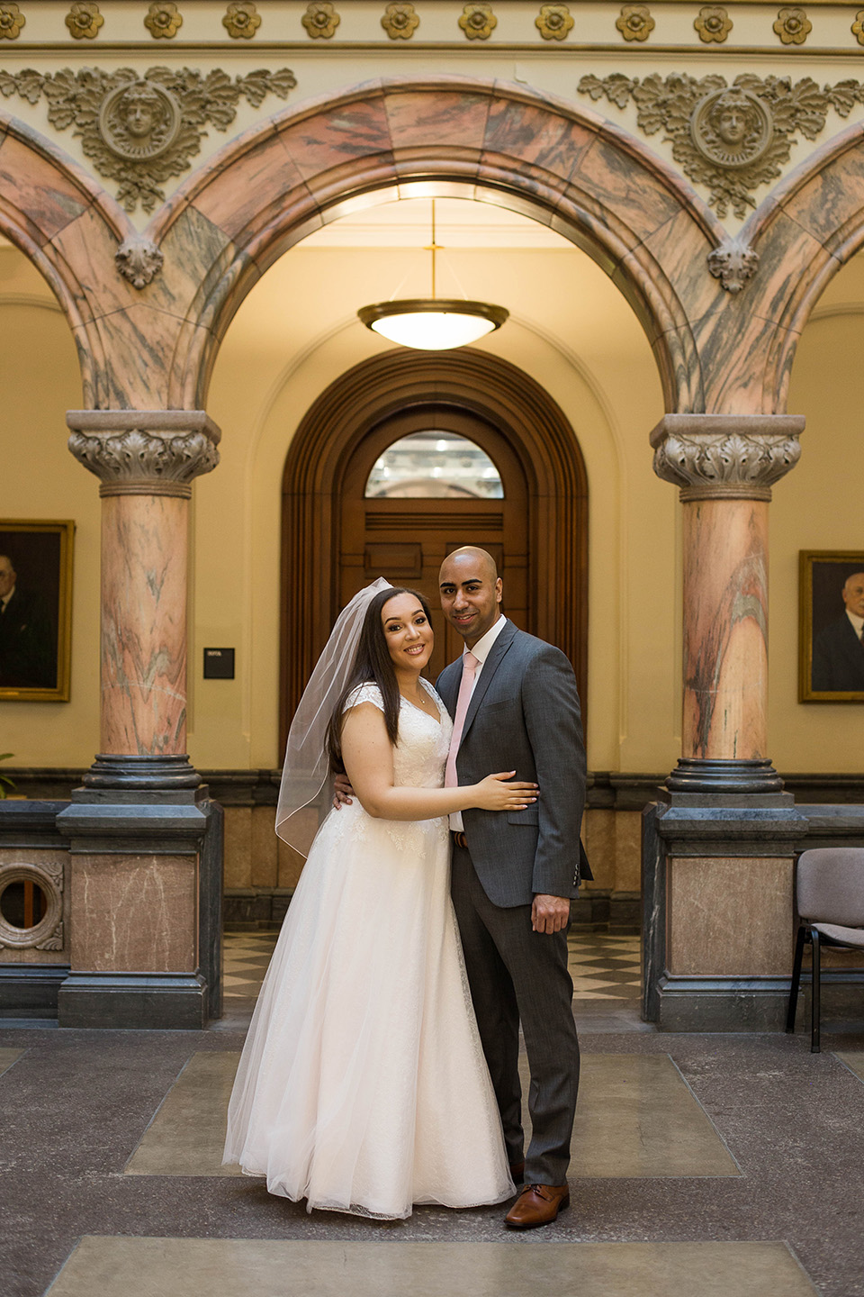 courthouse elopement in Cincinnati OH, bride and groom photo
