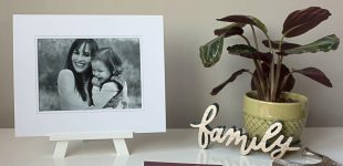 Printed portrait display ideas, family professional photographer Cincinnati OH