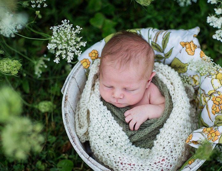 Summer Babe, Cincinnati Outdoor Newborn Portraits