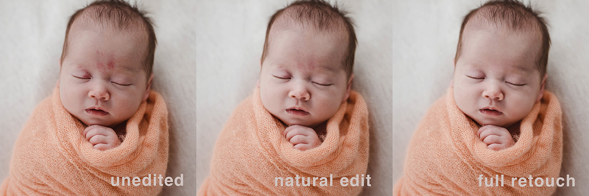 birthmark editing on newborn portraits