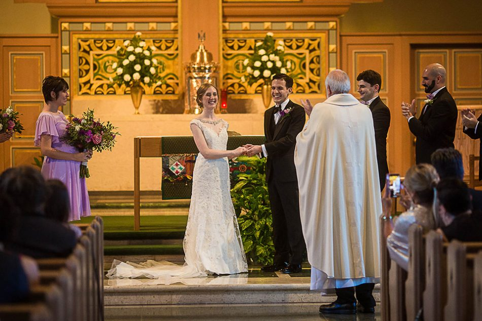 Wedding ceremony at St Clare Church