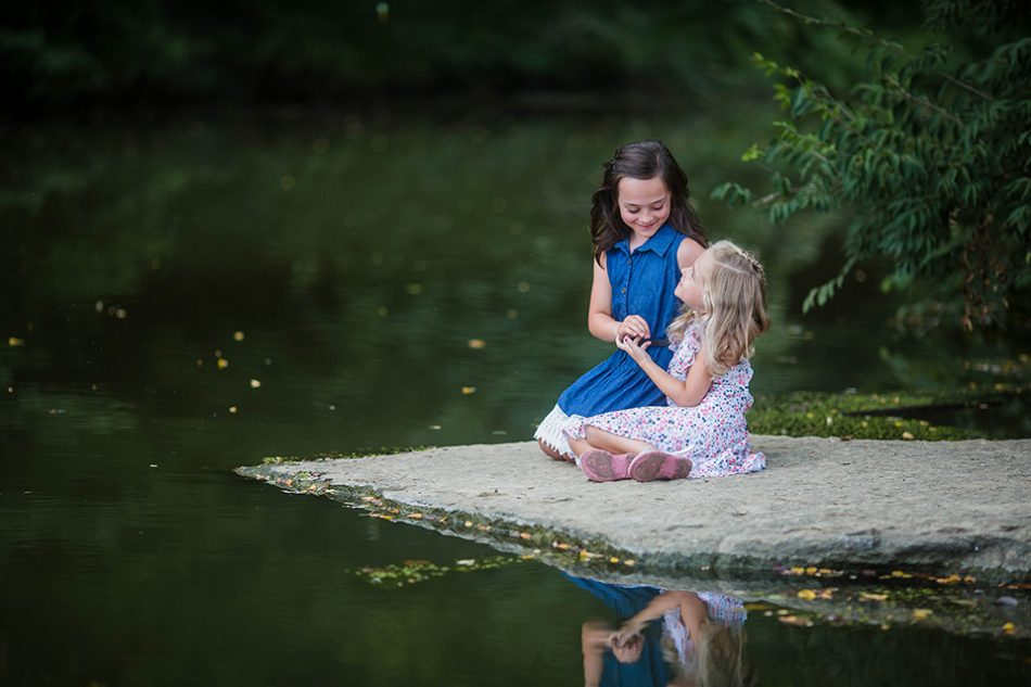 Sisters portrait, Cincinnati family photographer