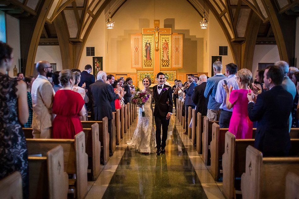 wedding at St Clare Church in Cincinnati wedding photographer