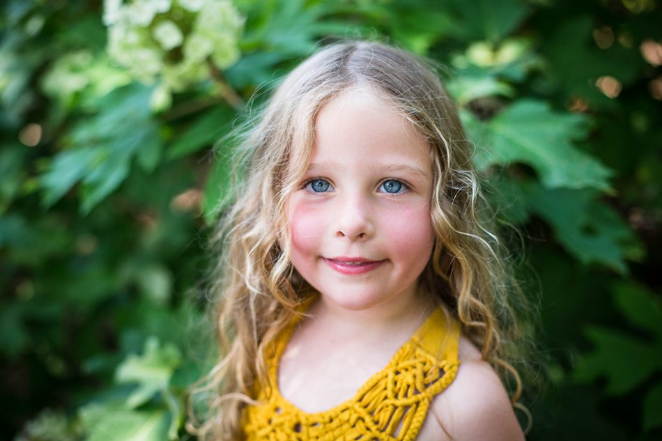 Young girl portrait by Cincinnati Photographer Cara Harrison