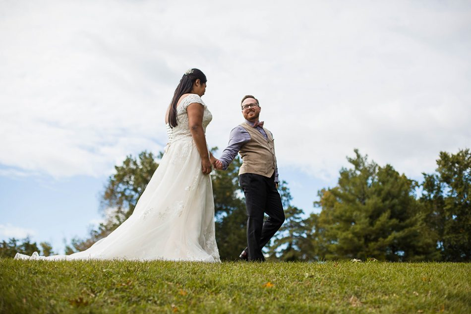 Wedding pictures after the ceremony in Blue Ash Ohio by Cincinnati Photographer