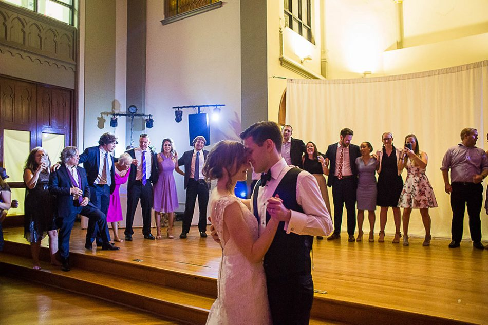 First dance at the Sanctuary wedding reception